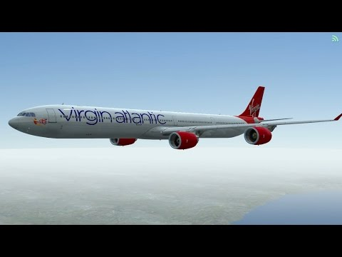 [HD] Infinite Flight Airbus A340 - 600. Multiplayer. ATC. Virgin Atlantic takeoff at San diego