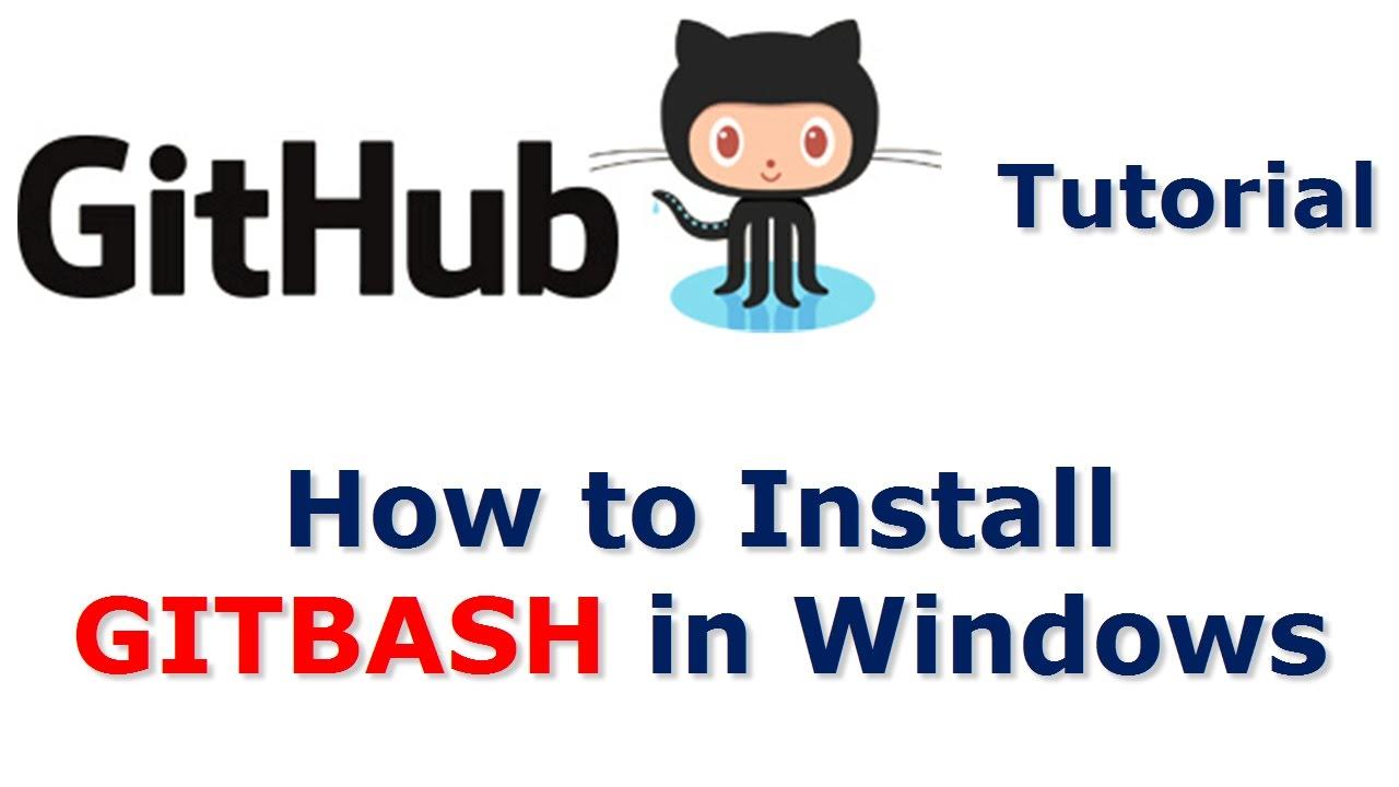 Github tutorial install git bash in windows video 3 youtube github tutorial install git bash in windows video 3 baditri Gallery