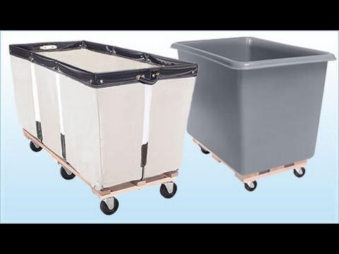 Commercial Laundry Cart on Wheels