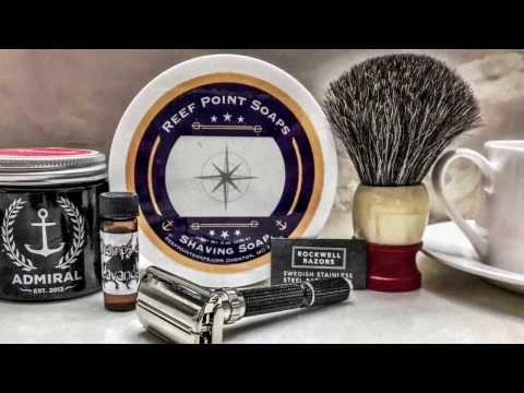 Reef Point Soaps Earl Grey & Ginger, 1975 Black Beauty, Rockwell Blade and Chatillon Lux