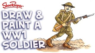 How to draw and Paint a WW1 British Soldier