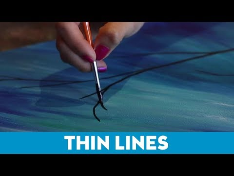 Art Tips for Non-Artists: How to Paint Thin Lines