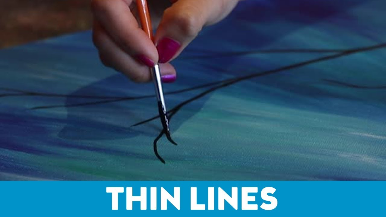 Art For Non Artists Art Tips For Non Artists How To Paint Thin Lines Youtube