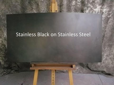 Stainless Black on Stainless Steel
