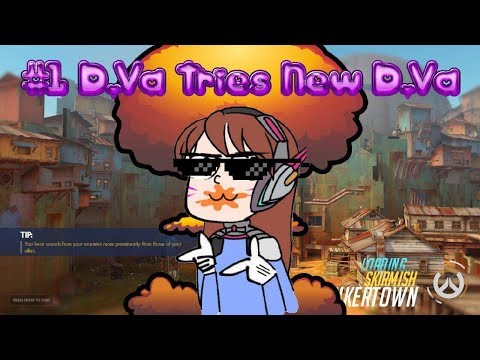 Overwatch -  #1 World D.Va Tries Out New D.Va In FFA - Gameplay