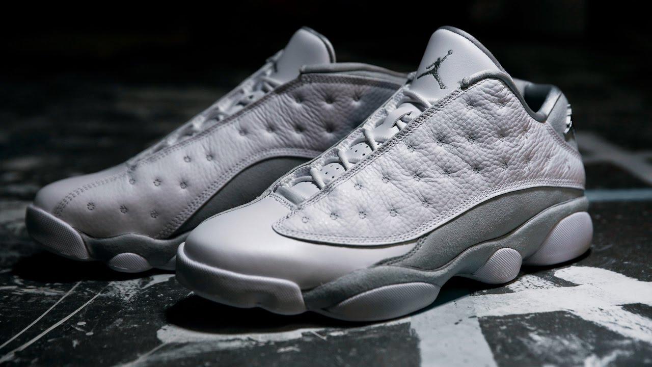 369c58999c09 First Look  Air Jordan 13 Low  Pure Platinum