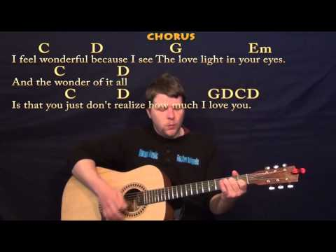 Wonderful Tonight (Eric Clapton) Easy Strum Guitar Cover Lesson with Lyrics