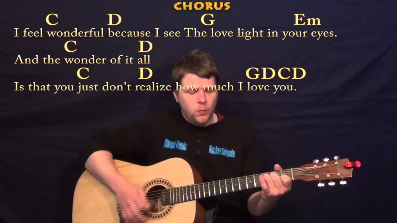 Wonderful Tonight Eric Clapton Strum Guitar Cover Lesson In G With