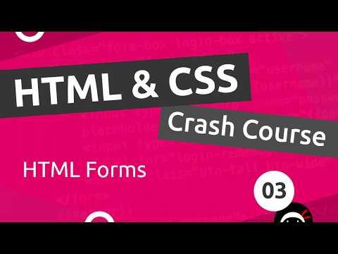 HTML & CSS Crash Course Tutorial #3 - HTML Forms thumbnail