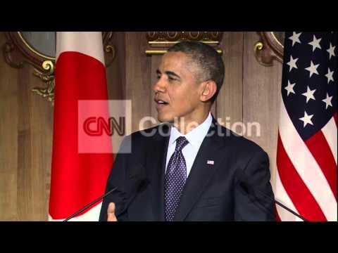 TOKYO-OBAMA PM ABE PRSR: ISLAND DISPUTE