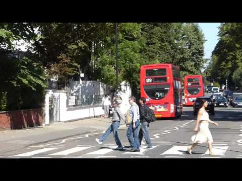 Tourists at the Abbey Road crossing, London