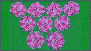 Шаль мотивами. Вязание мотива крючком. Мотивы крючком. Шаль крючком. (pattern. shawl. Crochet)