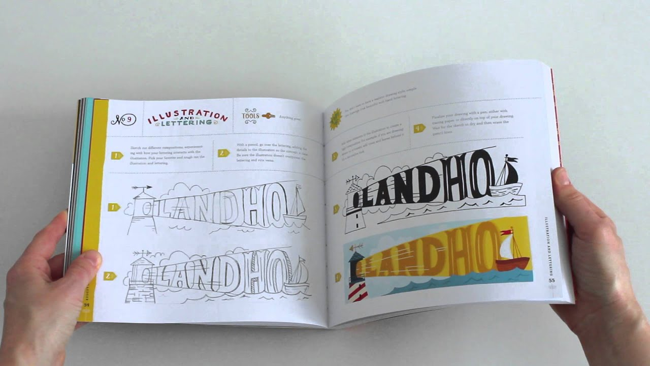 hand lettering ledger by mary kate mcdevitt book flip through youtube