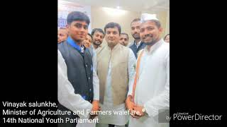 Vinayak Salunkhe As 'MINISTER of Agriculture' 14th Youth Parliament Competition Best Parliamentarian