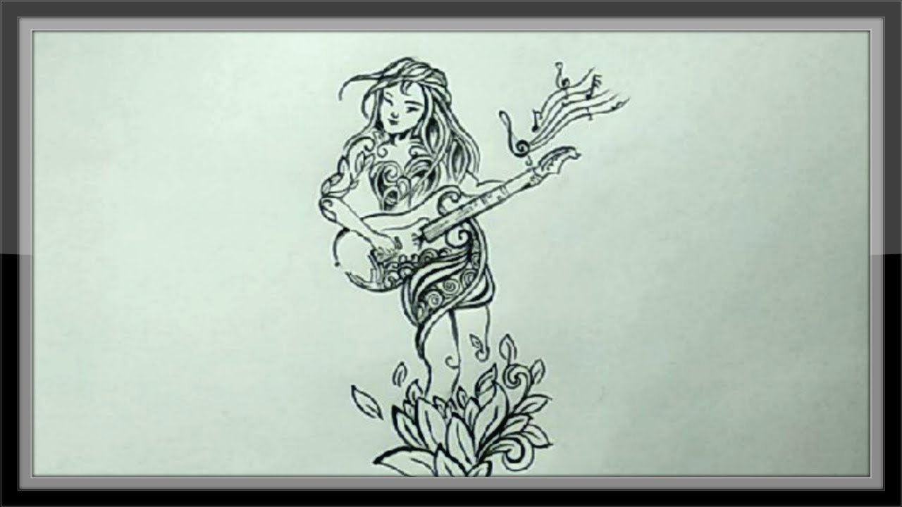Cool easy drawings pencil drawing a rock star girl ➤easy