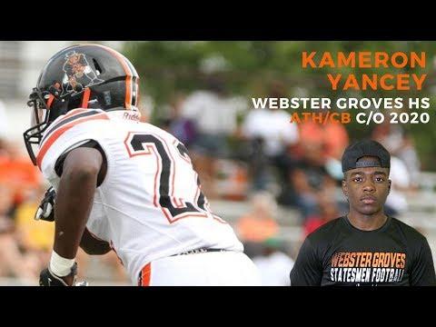 Kameron Yancey Athletic Defensive Back Webster Groves High School