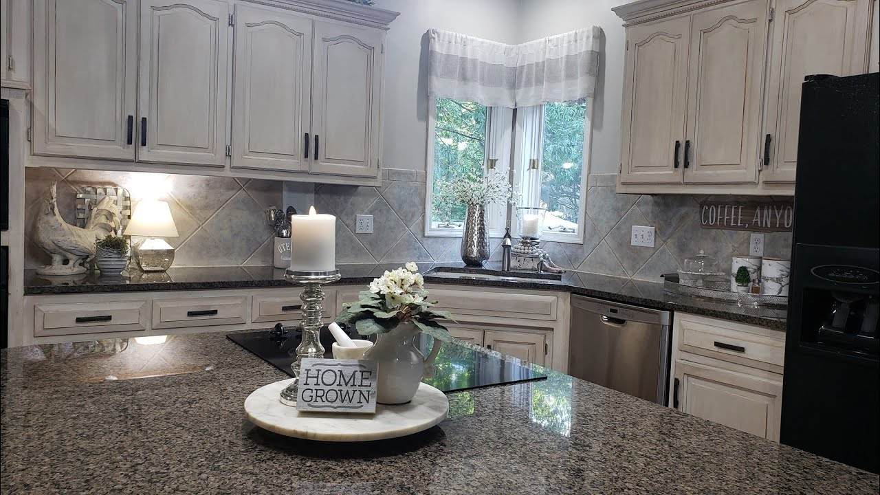 DECORATE WITH ME/ 2019 SUMMER KITCHEN COUNTERTOPS - YouTube on How To Decorate A Kitchen Counter  id=39337