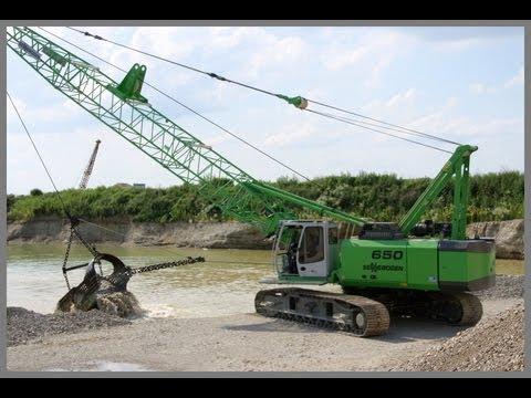 Sennebogen 650HD im Einsatz in der Kiesgewinnung / Sennebogen 650HD Dragline grit open cast mining