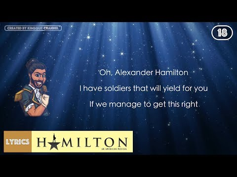 #18 Hamilton - Guns And Ships (VIDEO LYRICS)