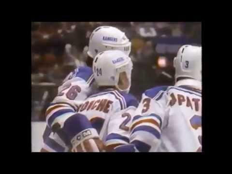 Rangers Blackhawks March 23 1986