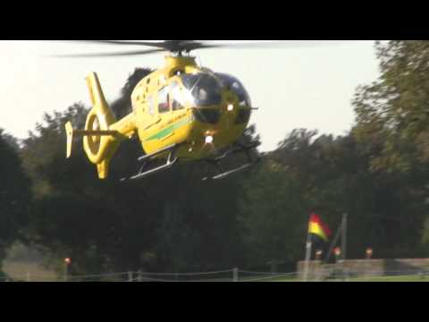 Air Ambulance lands at school