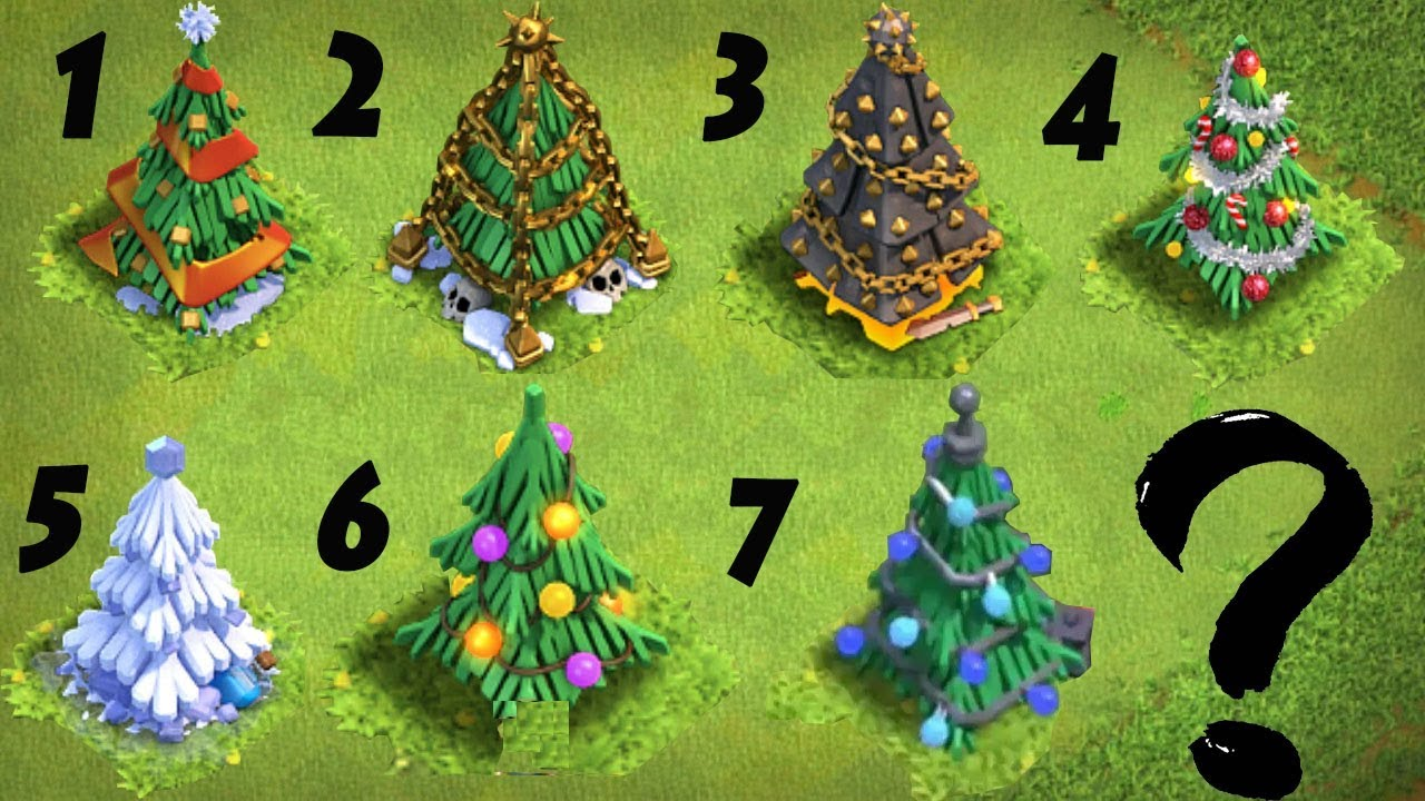 All Christmas Trees In Clash Of Clans 2012 To 2018 New Update 2018