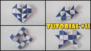 Rubik's Twist 24 Tutorial #11 - Peach Heart 1 - Fish 1 - Bow - Ninja Star