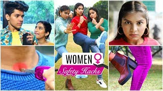 9 Women SAFETY & SELF DEFENCE Hacks ... | #LifeSavingHacks #Fun #Anaysa