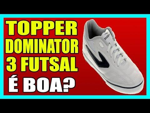 e4cf8e0132 CHUTEIRA TOPPER DOMINATOR 3 FUTSAL - YouTube