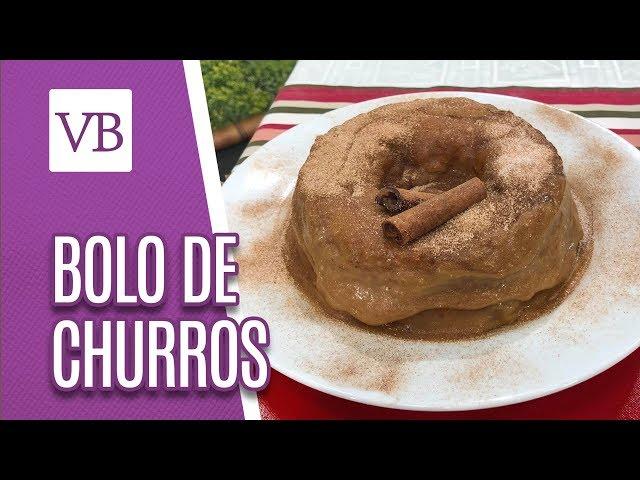 Bolo de churros saudável - Você Bonita (08/03/19)