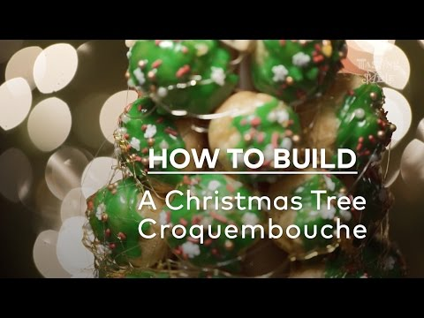 How to Build a Christmas Tree Croquembouche | Eat | Tasting Table