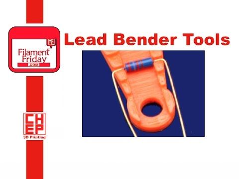 3D Printed Resistor Lead Forming Tool For Electronics