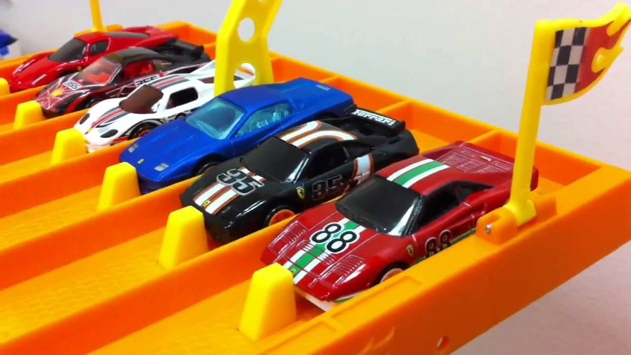 Famous Race Cars >> HOT WHEELS 6 LANE RACE TRACK - MrSenCTVT's Fun Time - YouTube