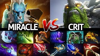 MIRACLE Phantom Lancer VS CRIT Tiny Epic Counter Pick Game 7.22 Dota 2