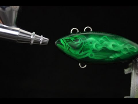 Painting fishing lures: Green Ghoulies!