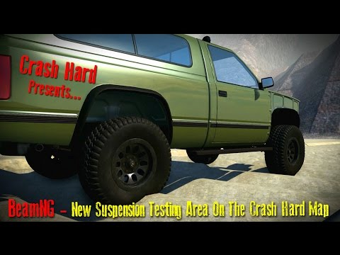 BeamNG - New Suspension Testing Area On The Crash Hard Map