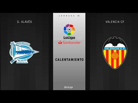 Calentamiento D. Alavés vs Valencia CF