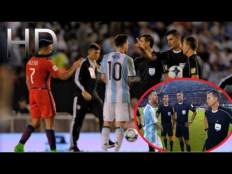 Leo Messi Insults the Referee after Argentina vs Chile   HD