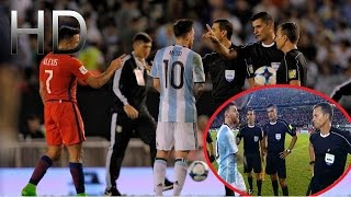 Leo Messi Insults the Referee after Argentina vs Chile | HD