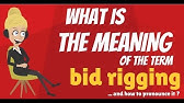 Bid Rigging Compete Legally Youtube