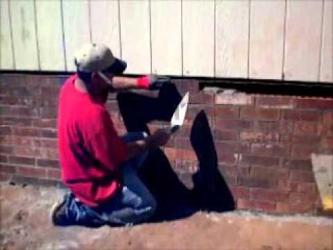 Taylor Harlin Masonry Installing Brick Skirting Youtube
