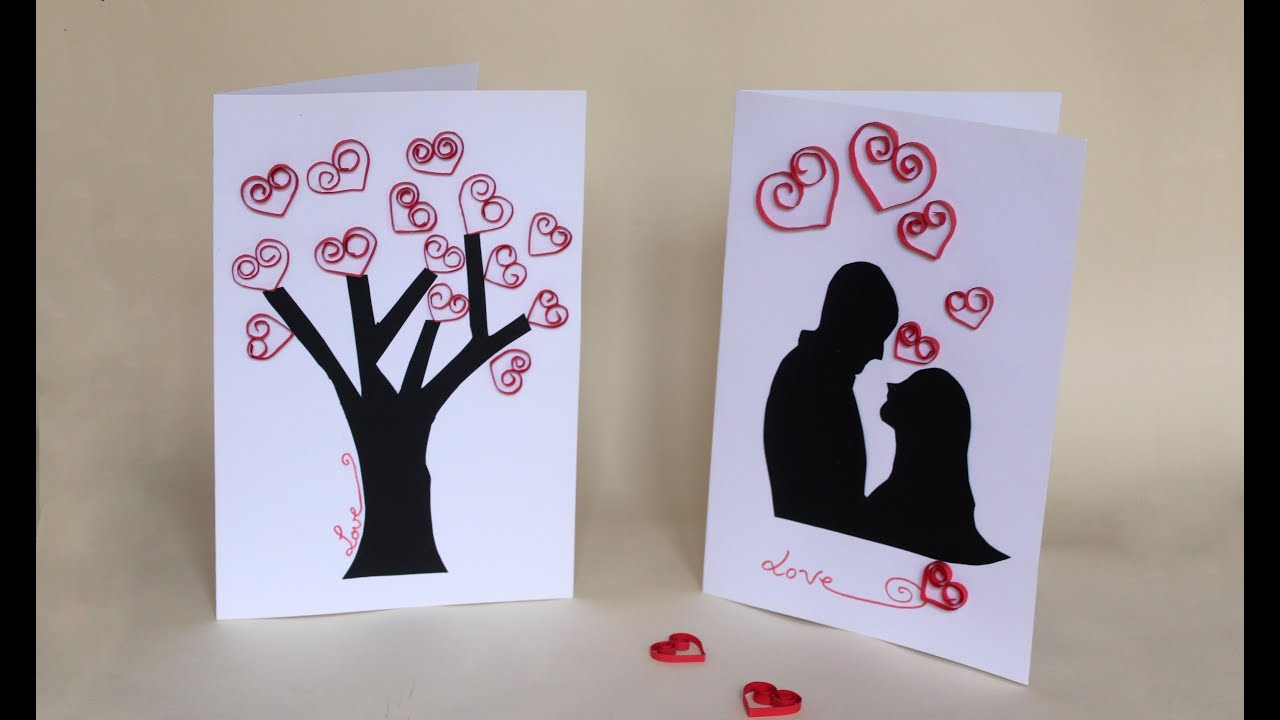 Como hacer una tarjeta para san valentin youtube - Manualidades para hacer tarjetas ...