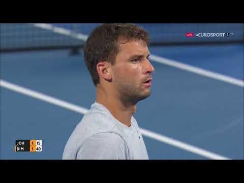 Grigor Dimitrov vs. Steve Jonson 6-2, 6-3 Brisbane International (R32) 02.01.2017.