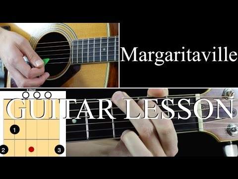 Margaritaville - Guitar Lesson Tutorial - Jimmy Buffett