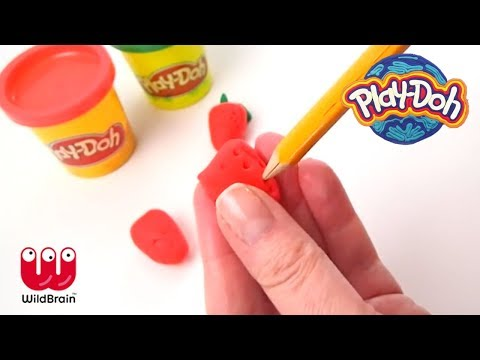 PLAY DOH | Create a bunch of spring strawberries | Crafty Kids