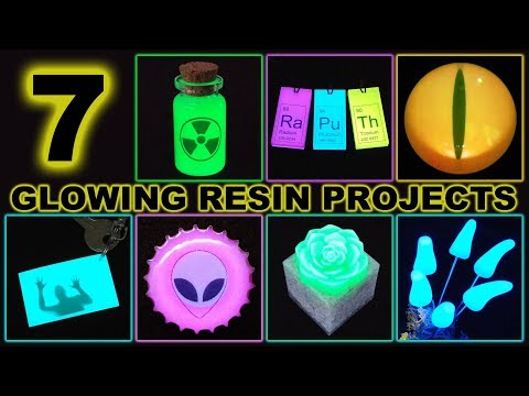 7 Glow-In-The-Dark Epoxy Resin Projects | Pendants | Paperweight | Magnets + More