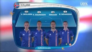 Iceland line-up v France: UEFA EURO 2016
