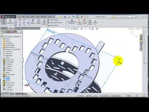 SolidWorks 2014 Tutorial  48: Curve Pattern