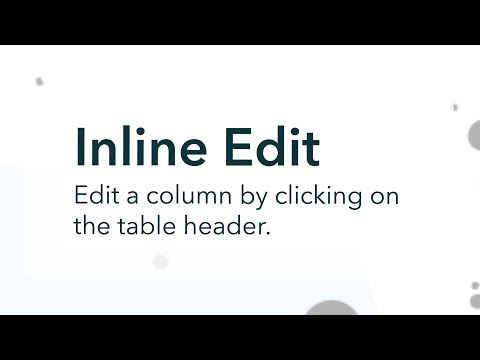 Inline Edit: Column Edit Mode - YouTube