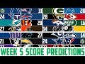 NFL Week 5 SCORE PREDICTIONS 2018 - NFL Picks Against the Spread WEEK 5 (NFL BETTING)
